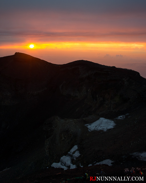 Sunrise on the Mt. Fuji Summit