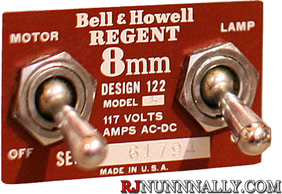 Bell and Howell Model 122 Switches & Faceplate