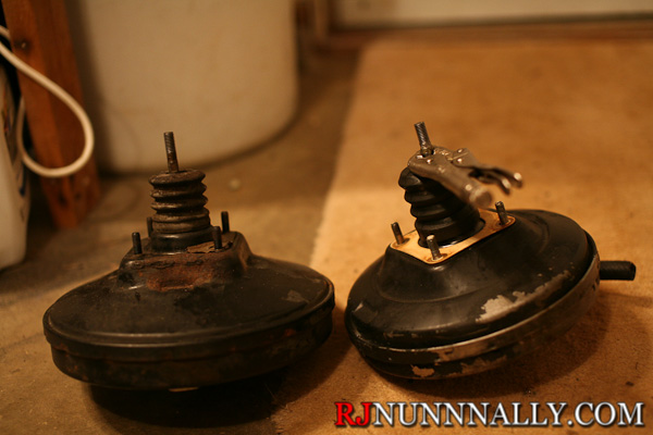 Porsche and BMW e30 brake booster comparison